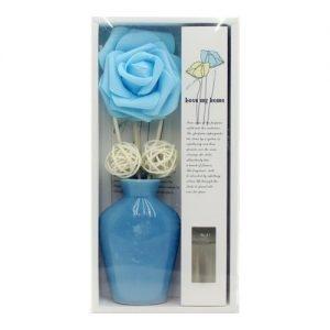 گلدان سرامیکی دکوری خوش بو کننده هوا رنگ آبی