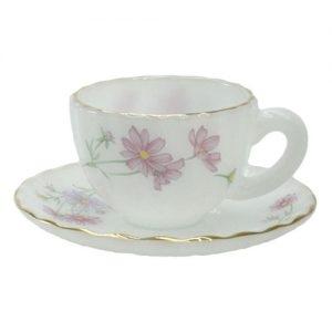 فنجان قهوه خوری ۴ پارچه آرکوپال طرح گل داوودی