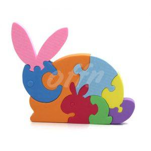 پازل سه بعدی و فومی طرح خرگوش
